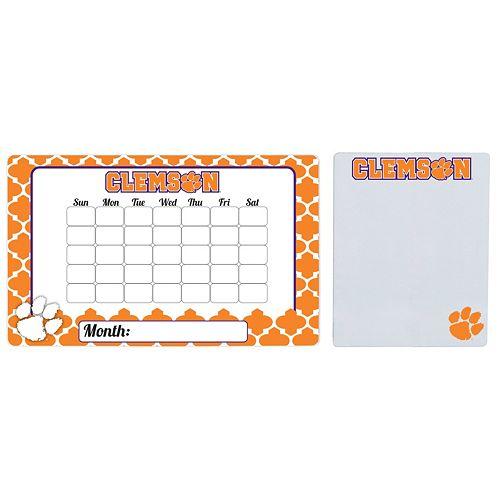 Clemson Tigers Dry Erase Calendar & To-Do List Magnet Pad Set