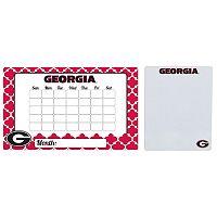 Georgia Bulldogs Dry Erase Calendar & To-Do List Magnet Pad Set