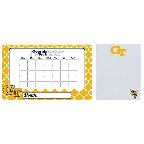 Georgia Tech Yellow Jackets Dry Erase Calendar & To-Do List Magnet Pad Set