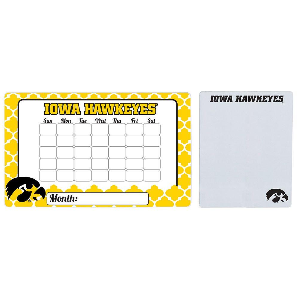 Iowa Hawkeyes Dry Erase Calendar & To-Do List Magnet Pad Set