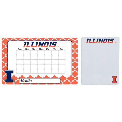 Illinois Fighting Illini Dry Erase Calendar & To-Do List Magnet Pad Set