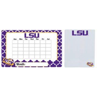 LSU Tigers Dry Erase Calendar & To-Do List Magnet Pad Set