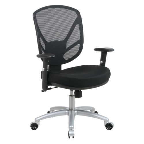 Office Star Products Aluminum Screen Back Chair