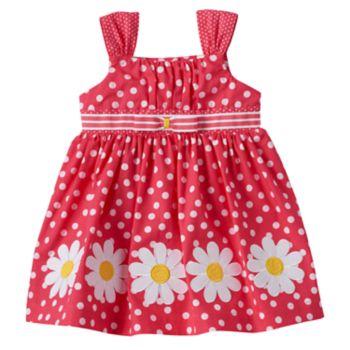 Baby Girl Blueberi Boulevard Polka-Dot Flower Sundress