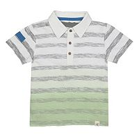 Toddler Boy Burt's Bees Baby Dip Dye Striped Polo Shirt