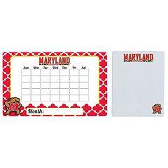 Maryland Terrapins Dry Erase Calendar & To-Do List Magnet Pad Set