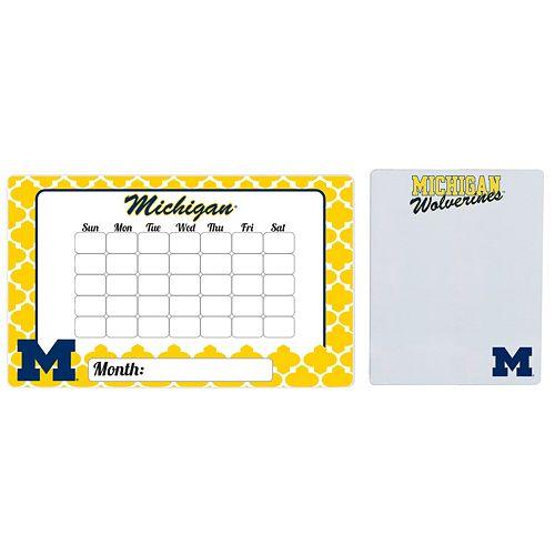 Michigan Wolverines Dry Erase Calendar & To-Do List Magnet Pad Set