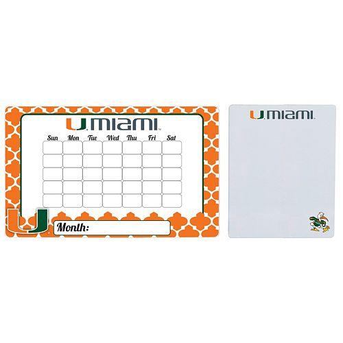 Miami Hurricanes Dry Erase Calendar & To-Do List Magnet Pad Set