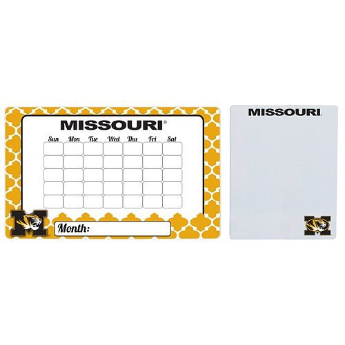 Missouri Tigers Dry Erase Calendar & To-Do List Magnet Pad Set