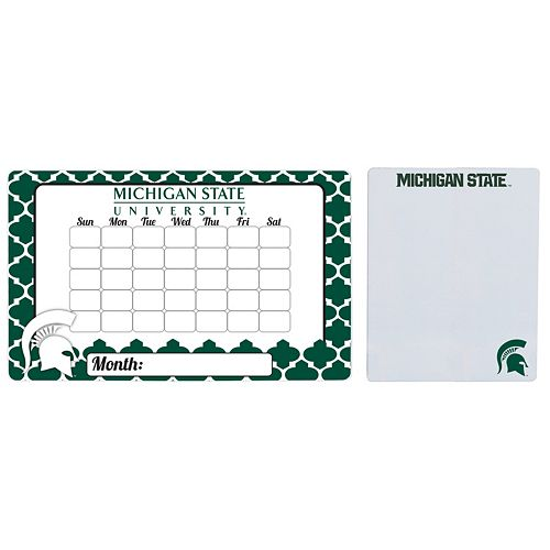 Michigan State Spartans Dry Erase Calendar & To-Do List Magnet Pad Set