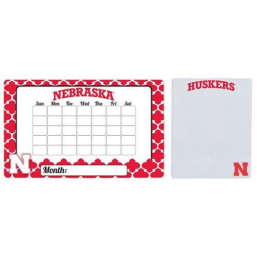 Nebraska Cornhuskers Dry Erase Calendar & To-Do List Magnet Pad Set