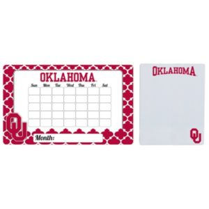 Oklahoma Sooners Dry Erase Calendar & To-Do List Magnet Pad Set