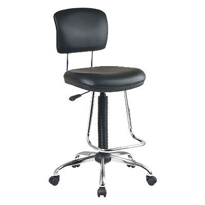 Office Star Products Chrome Ergonomic Chair with Footrest
