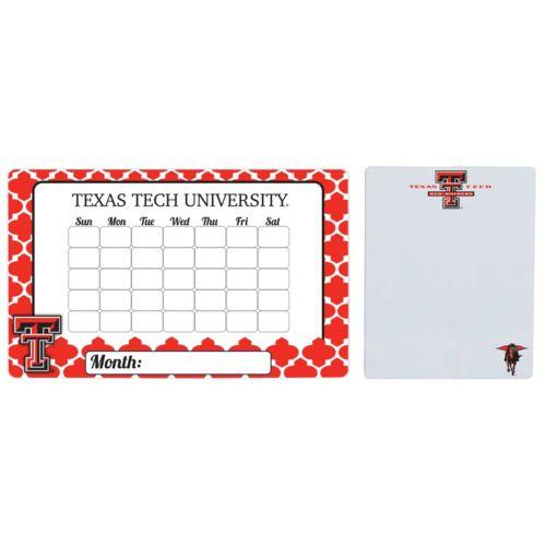Texas Tech Red Raiders Dry Erase Calendar & To-Do List Magnet Pad Set
