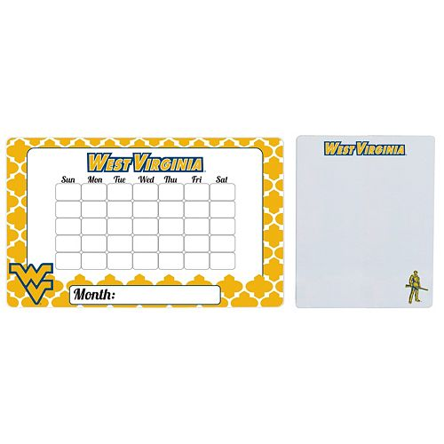 West Virginia Mountaineers Dry Erase Calendar & To-Do List Magnet Pad Set