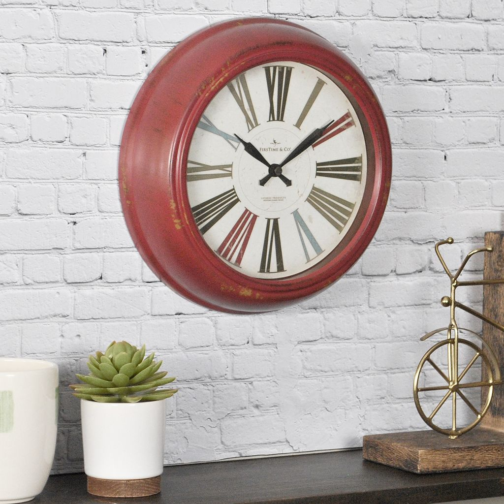 FirsTime Red Relic Wall Clock