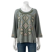 Women's SONOMA Goods for Life™ Embroidered French Terry Sweatshirt