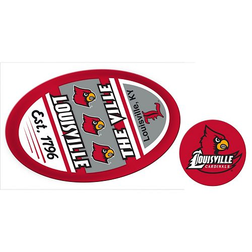 Louisville Cardinals Game Day Decal Set