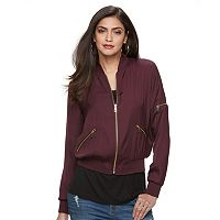 Women's Jennifer Lopez Luxe Essentials Bomber Jacket