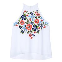 Girls 7-16 IZ Amy Byer Embroidered Tank Top