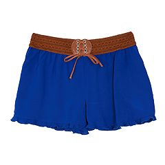 Girls 7-16 IZ Amy Byer Ruffled Challis Shorts