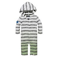 Baby Boy Burt's Bees Baby Organic Striped Coveralls