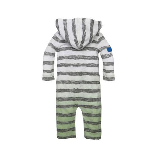 Baby Boy Burt's Bees Baby Organic Striped Coveralls