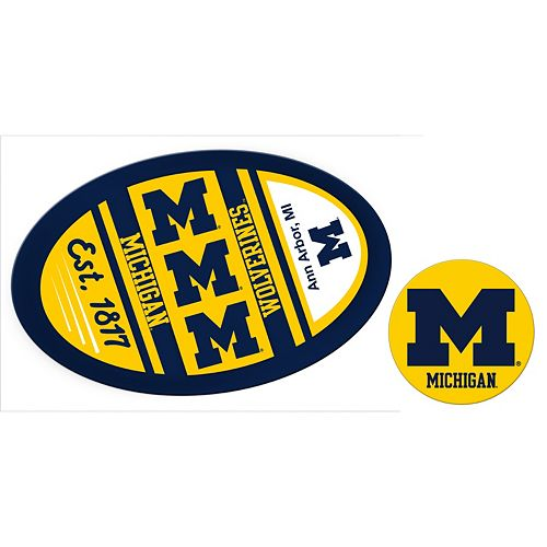 Michigan Wolverines Game Day Decal Set