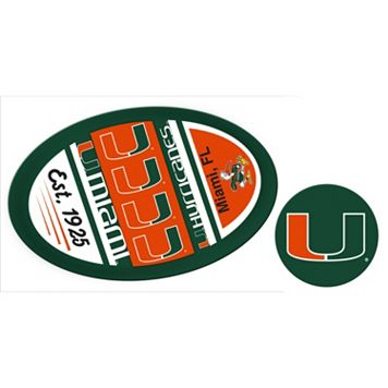 Miami Hurricanes Game Day Decal Set