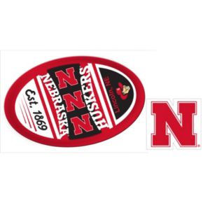 Nebraska Cornhuskers Game Day Decal Set
