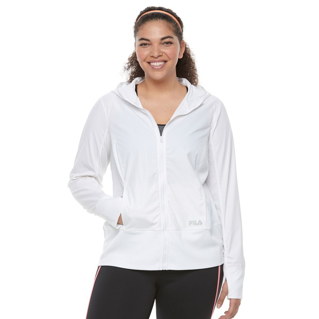 Plus Size FILA SPORT® Shirred-Back Hoodie