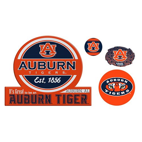 Auburn Tigers Game Day 4-Piece Magnet Set