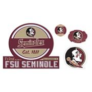 Florida State Seminoles Game Day 4 pc Magnet Set
