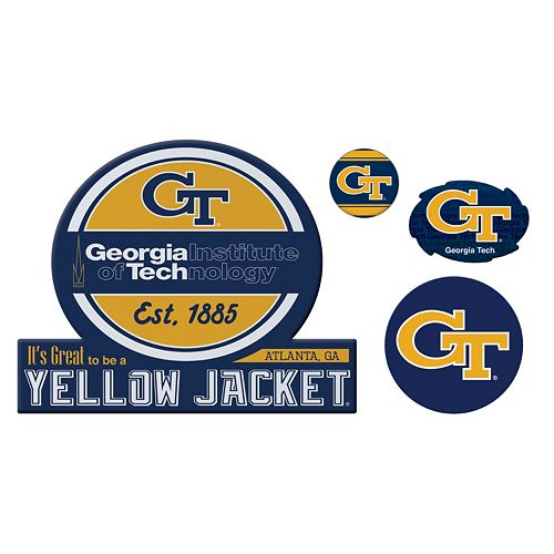 Georgia Tech Yellow Jackets Game Day 4-Piece Magnet Set
