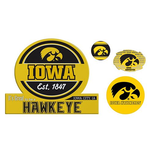 Iowa Hawkeyes Game Day 4-Piece Magnet Set