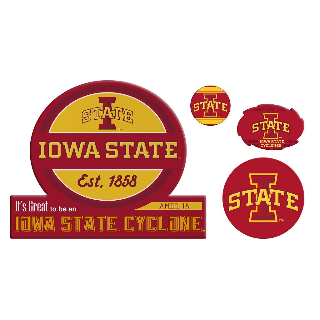 Iowa State Cyclones Game Day 4-Piece Magnet Set