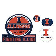 Illinois Fighting Illini Game Day 4-Piece Magnet Set