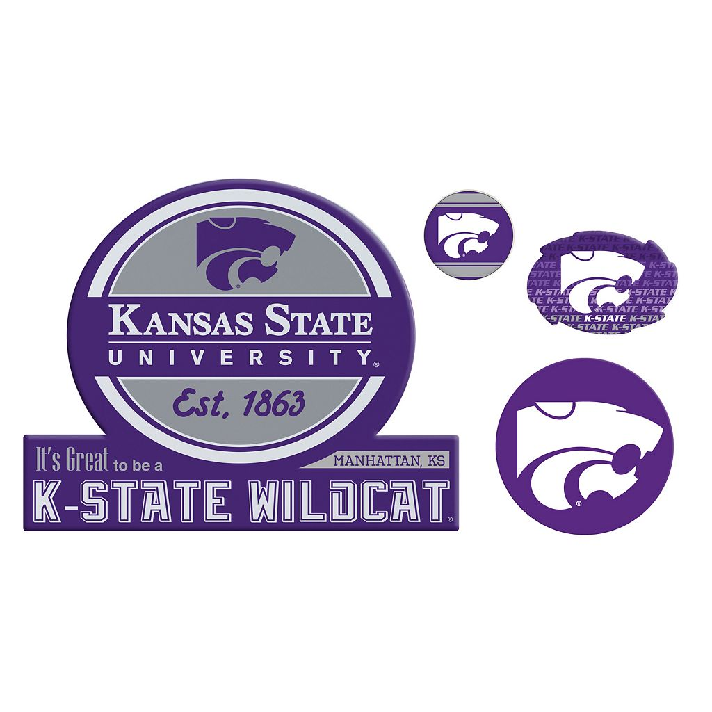 Kansas State Wildcats Game Day 4-Piece Magnet Set