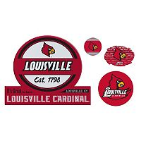 Louisville Cardinals Game Day 4 pc Magnet Set