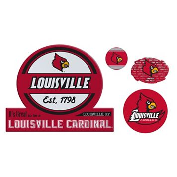 Louisville Cardinals Game Day 4-Piece Magnet Set