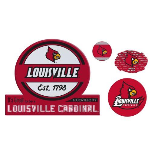 Louisville Cardinals Game Day 4-Piece Magnet Set
