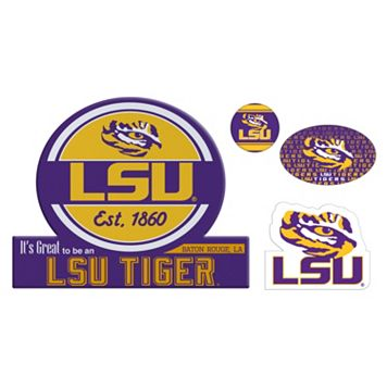 LSU Tigers Game Day 4-Piece Magnet Set