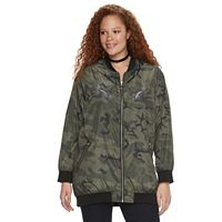 Plus Size Rock & Republic® Camo Bomber Jacket