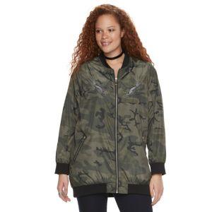 Plus Size Rock & Republic® Camo Bomber Jacket