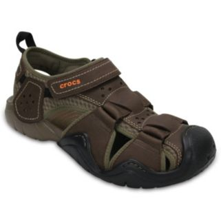 Crocs Swiftwater Men's Leather Fisherman Sandals