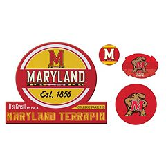 Maryland Terrapins Game Day 4 pc Magnet Set