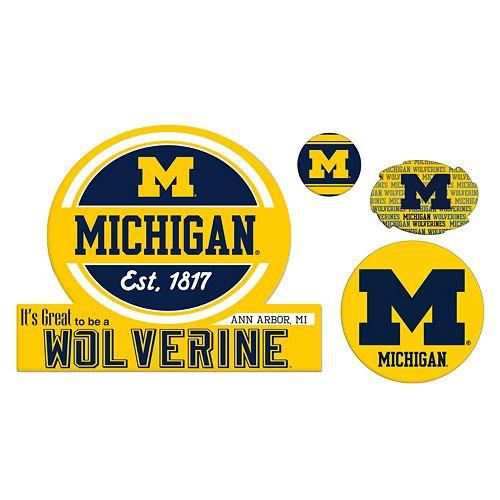 Michigan Wolverines Game Day 4-Piece Magnet Set