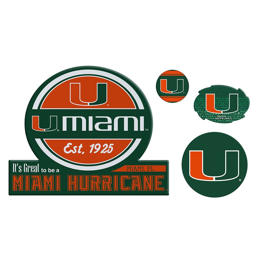 Miami Hurricanes Game Day 4-Piece Magnet Set