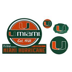 Miami Hurricanes Game Day 4-Piece Magnet Set