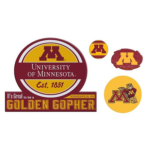 Minnesota Golden Gophers Game Day 4-Piece Magnet Set